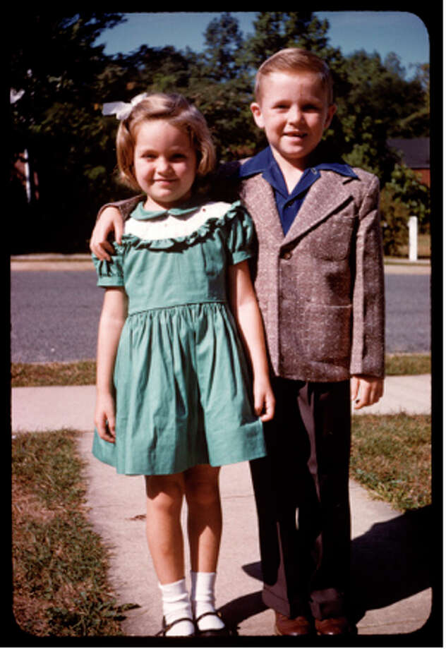 Siblings Marcy and Mike Maloy on Easter Sunday, 1954 in Arlington, Virginia. Photo: COURTESY