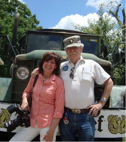 Siblings Marcy and Mike Maloy at VFW Post 8541 on Austin Highway for Mothers Day 2012. Photo: COURTESY
