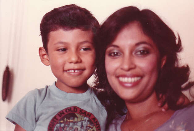 Jason Garcia, 3, and his mother Rosie, 26, in 1986. Photo: COURTESY