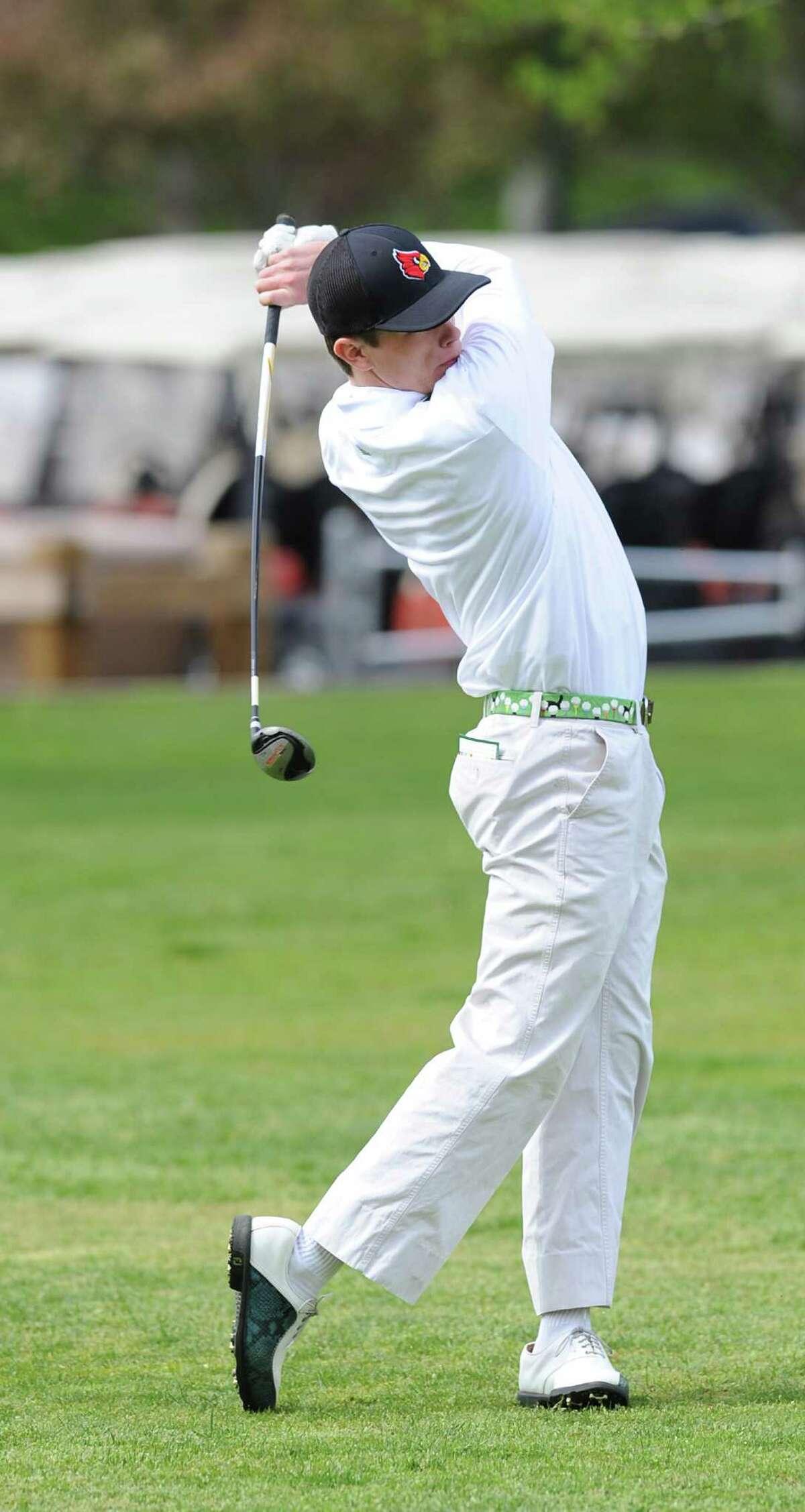 Chris Pavelic of Greenwich won the Hap Holohan tournament Tuesday.