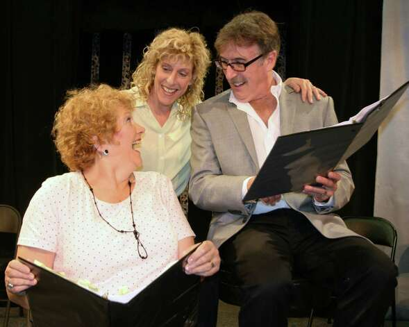 "Norwalk's Theater Artists Workshop is presenting a free reading of A.R. Gurney's ""The Dining Room"" on June 15 and 16. The company includes (left to right) Melody James, Katie Sparer and Mark Basile. Photo: Contributed Photo"