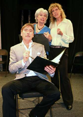 "The Theater Artists Workshop in Norwalk is doing a free reading of A.R. Gurney's ""The Dining Room"" on June 15 and 16. The ensemble includes (left to right) Mark Basile, Jo Anne Parady and Katie Sparer. Photo: Contributed Photo"