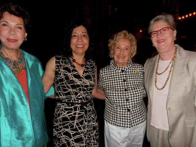 Las Casas Foundation founder Joci Straus, from left, joins Sylvia Rodriguez, Charline McCombs and board President Kathy Rhoads at Las Casas Performing Arts Competition at the Charline McCombs Empire Theatre. Photo: Nancy Cook-Monroe, For The Express-News