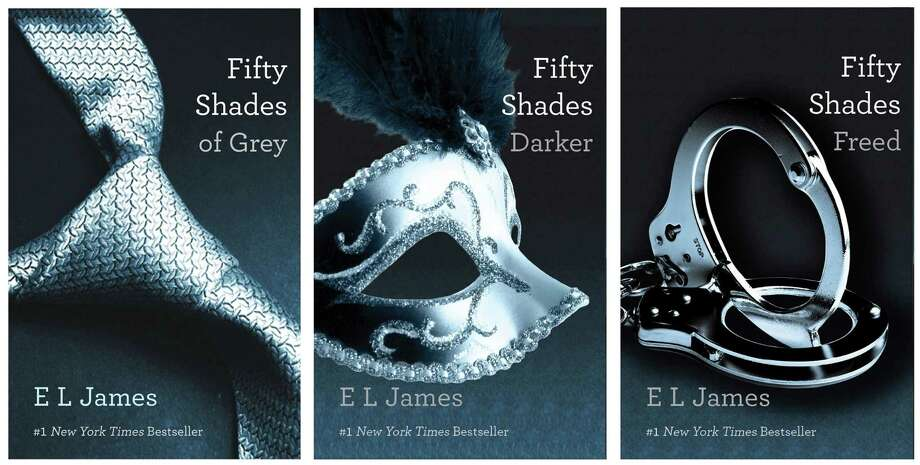 "E L James' ""Fifty Shades of Grey"" trilogy is spawning fan fiction. Photo: Vintage Books / AP2012"