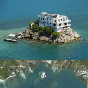 "The Safe House"" designed by KWK Promes has one entrance. It's on the second floor and you have to cross a drawbridge to get to it. (usdivetravel.com via BuzzFeed)"