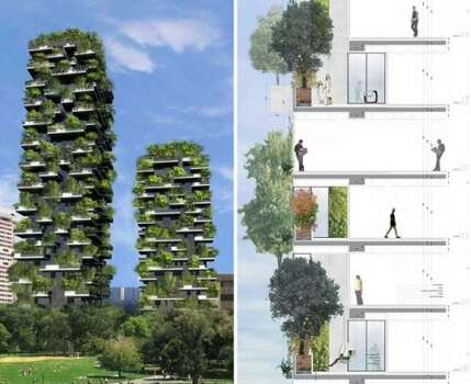 Architect Stefano Boeri's Vertical Forest in Milan. (Freshome.com via Buzz Feed)