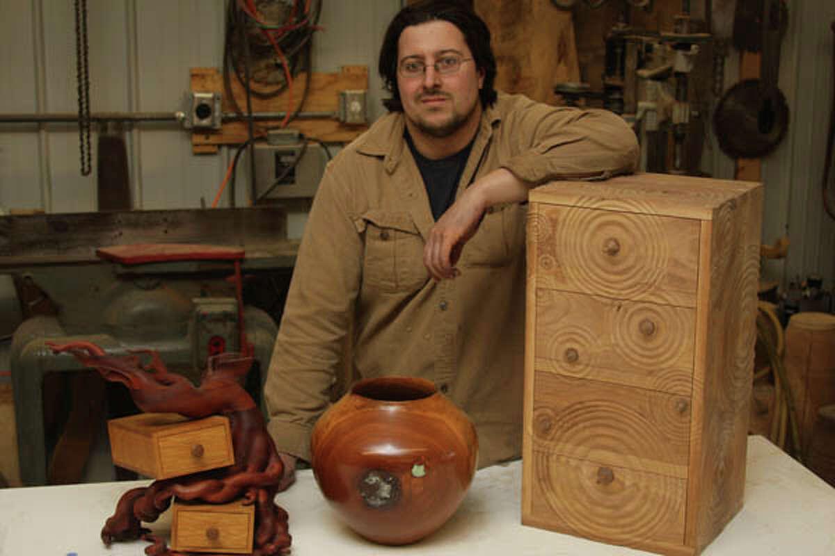 Ben Rauch makes magic from fallen trees.