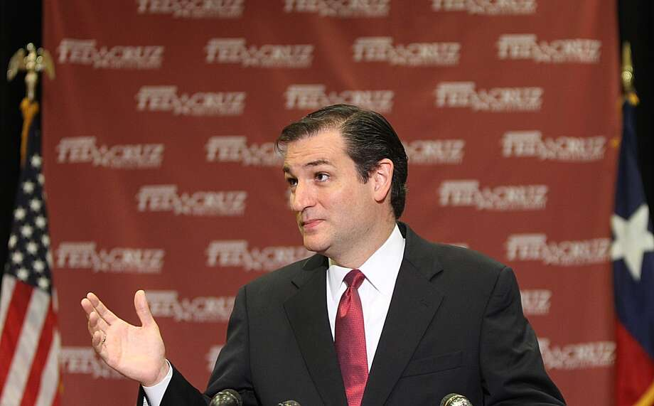 U.S. Senate candidate Ted Cruz talks during a press conference Wednesday after he captured enough votes in the GOP primary Tuesday to force a runoff with David Dewhurst. Photo: Nick De La Torre, Houston Chronicle