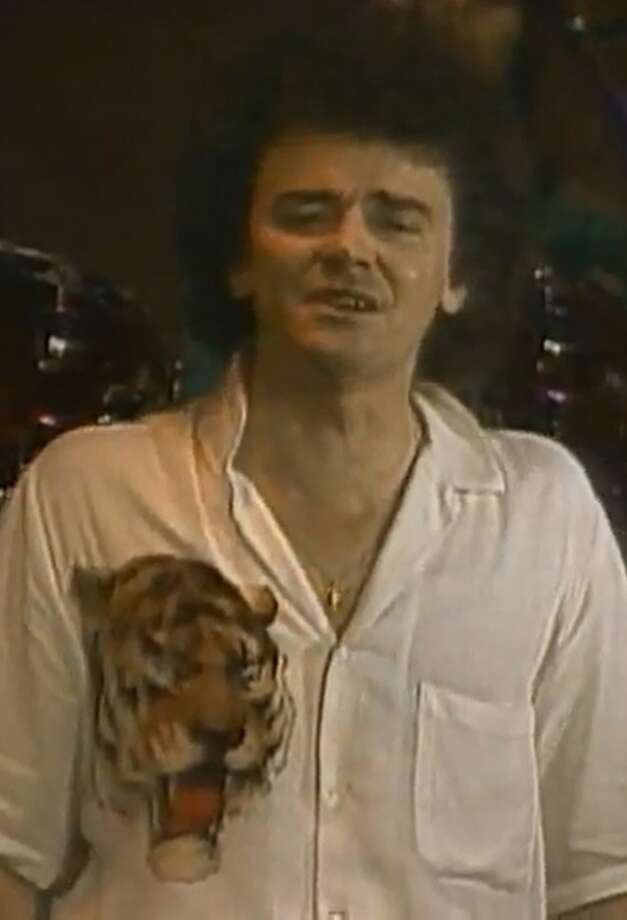 "Russell Hitchcock of Air Supply performing in the 1981 video ""The One That You Love"" (Times Union screen grab)"