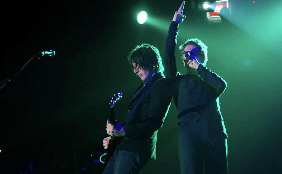 Tim Butler, with guitar, and Richard Butler of the Psychedelic Furs. (Courtesy The Egg)