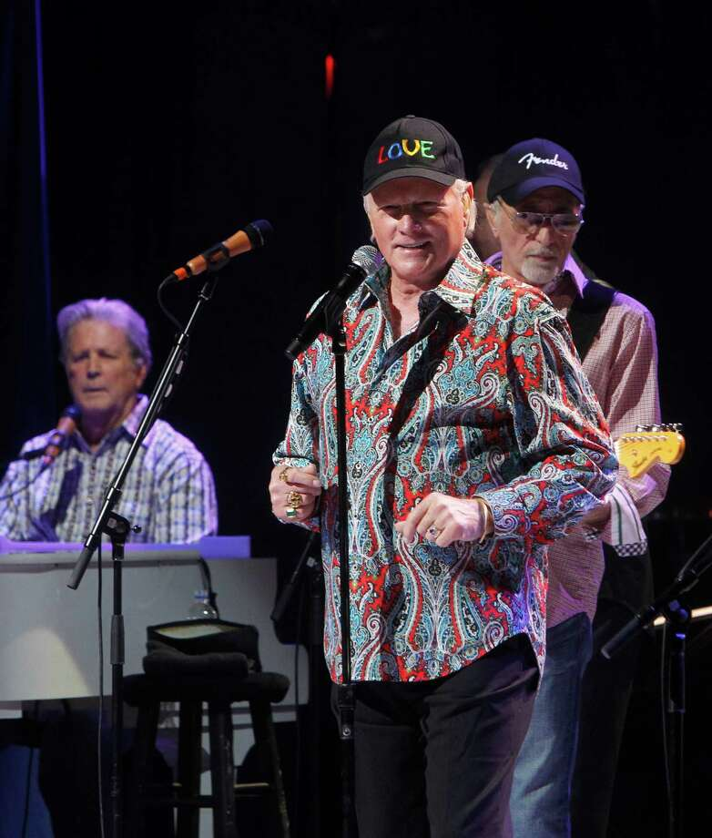 Original members of The Beach Boys, from left, Brian Wilson, David Marks and Mike Love perform together during a concert at the Beacon Theater, Tuesday, May 8 , 2012, in New York. Photo: AP