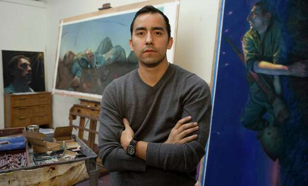 "Vincent Valdez revists past themes in new works for his exhibit ""Flashback"" at the Southwest School of Art & Craft. Photo: Courtesy Vincent Valdez"