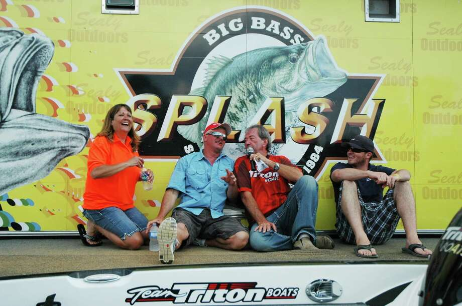 Silsbee resident Charles Hathaway was selected as the winner of a Legend boat, valued at $30,000, at the Elimination drawing at the McDonald's Big Bass Splash held recently at Toledo Bend. Photo: Patty Lenderman - Lakecaster, HCN_Boat