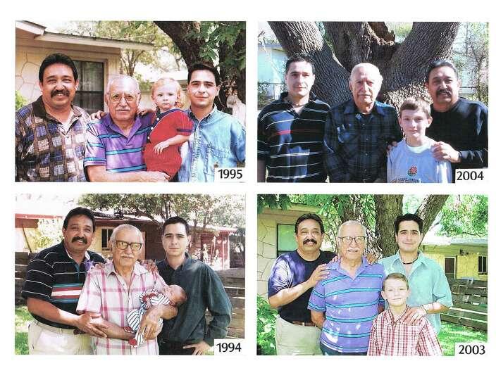 The Cueva men, beginning in 1994 (left to right) son Jose M. Cueva, father Jose E. Cueva (holding hi