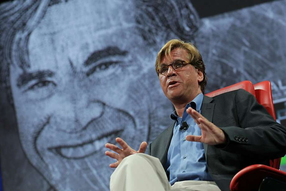 "Aaron Sorkin says doing a film about Apple's Steve Jobs is ""a little bit like writing about the Beatles."" Photo: Asa Mathat, All Things Digital"