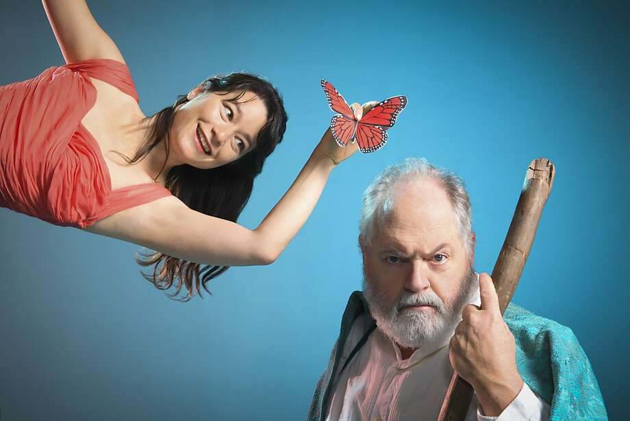 Erika Chong Shuch as Ariel and Michael Winters as Prospero in Cal Shakes  production of The Tempest, directed by Jonathan Moscone; photo by Kevin Berne. Photo: Kevin Berne