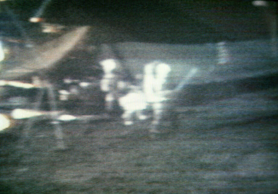 Apollo 14 astronaut Alan Shepard hits one three golf balls on the Moon on Feb. 5, 1971. They remain in the Moon's Fra Mauro region. Photo: NASA
