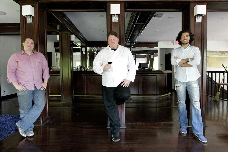 (Left to right) Wine Director Matthew McLaughlin, Chef Jonathan Jones, business owner Jorge Alvarez are photographed at the new Mexican restaurant Concepcion on Wednesday, May 16, 2012, in Houston. ( Mayra Beltran / Houston Chronicle ) Photo: Mayra Beltran / Houston Chronicle