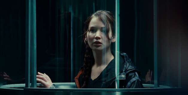 Jennifer Lawrence portrays Katniss Everdeen in the Hunger Games, which opens at midnight Thursday. Photo: Provided