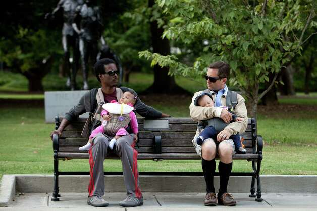 "In this film image released by Lionsgate, Chris Rock, left, and Tom Lennon are shown in a scene from ""What to Expect When You're Expecting."" (AP Photo/Lionsgate, Melissa Moseley) Photo: AP, HOEP / Lionsgate"