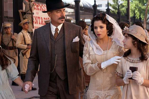 "Andy Garcia, left, and Eva Longoria, center, in ""For Greater Glory,"" courtesy of ARC Entertainment. (Hana Matsumoto/MCT) Photo: Handout, McClatchy-Tribune News Service"