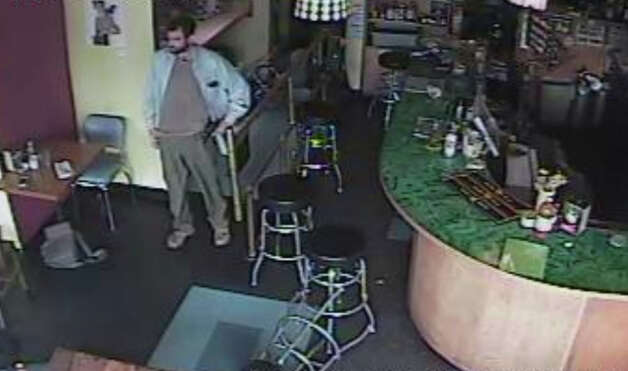 Police released this security camera image showing  Ian Stawicki, the man suspected of shooting five people Wednesday at Café Racer in northeast Seattle. Four of the victims died from the violence. Another person was shot and 