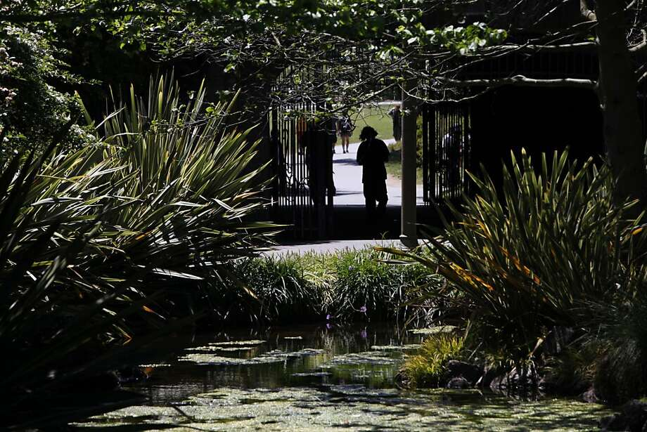 In this file photo, Alvord Lake in Golden Gate Park is accessible by a tunnel under Kezar Drive.  A man and a woman were stabbed near the lake early Wednesday. Photo: Sarah Rice, Special To The Chronicle