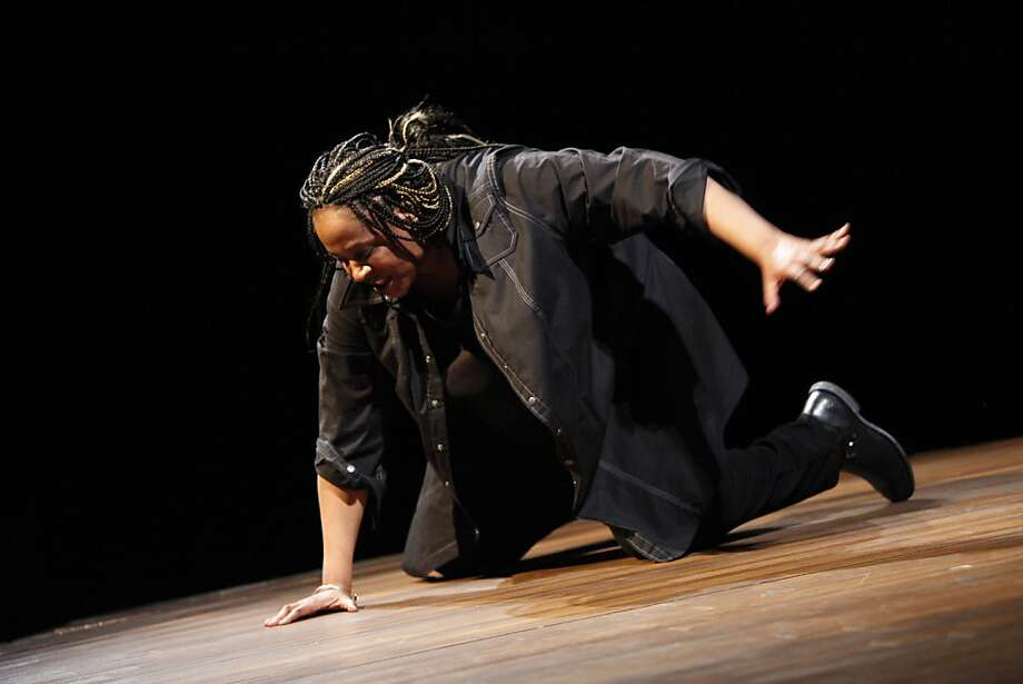 """Dael Orlandersmith in her newest solo show """"Black n Blue Boys/Broken Men"""" at the Berkeley Repertory Theatre onThursday, May 24th, 2012 in  Berkeley, Calif. Photo: Jill Schneider, The Chronicle"""