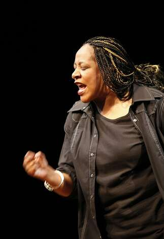 "Dael Orlandersmith in her newest solo show ""Black n Blue Boys/Broken Men"" at the Berkeley Repertory Theatre onThursday, May 24th, 2012 in  Berkeley, Calif. Photo: Jill Schneider, The Chronicle"