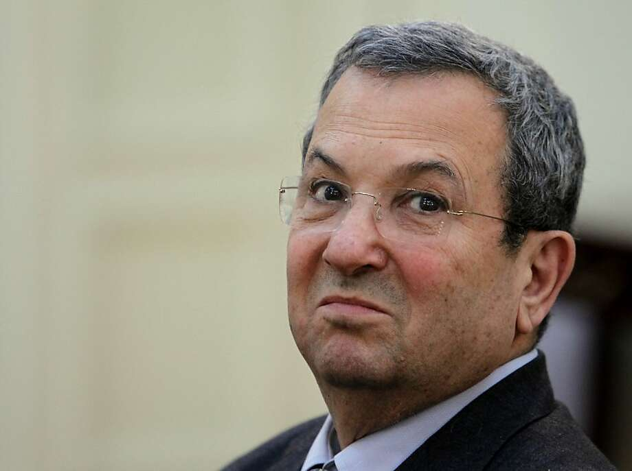 "FILE - In this Wednesday, Jan. 11, 2012 file photo Israeli Defense Minister, Ehud Barak attends a meeting with Greek Foreign Minister, Stavros Dimas in Athens. Barak abruptly proposed on Wednesday, May 30, 2012 that Israel consider ""unilateral action"" if long-stalled peace talks with the Palestinians don't resume and produce a deal suggesting Israel may be thinking of withdrawing from part of the West Bank, as it did from the Gaza Strip seven years ago. (AP Photo/Thanassis Stavrakis, File) Photo: Thanassis Stavrakis, Associated Press"