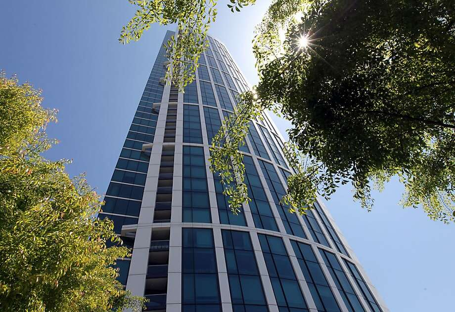 One Rincon Hill, located at First and Harrison streets, is a 64 stories tower that's home to over six hundred people in San Francisco. Photo: Lance Iversen, The Chronicle