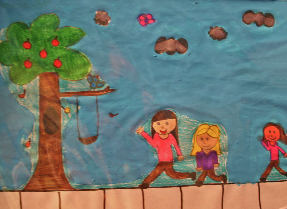 ìFall Day,î by Melanie Espitia, 9, of Tokeneke Elementary School in Darien, is one of 150 works displayed in the 16th International Childrenís Art Show at the Maritime Aquarium, open through Aug. 1. June 1, 2012, Darien, Conn. Photo: Contributed Photo