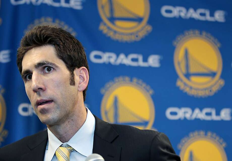 General manager Bob Myers has no shortage of options with draft picks. Photo: Paul Sakuma, Associated Press