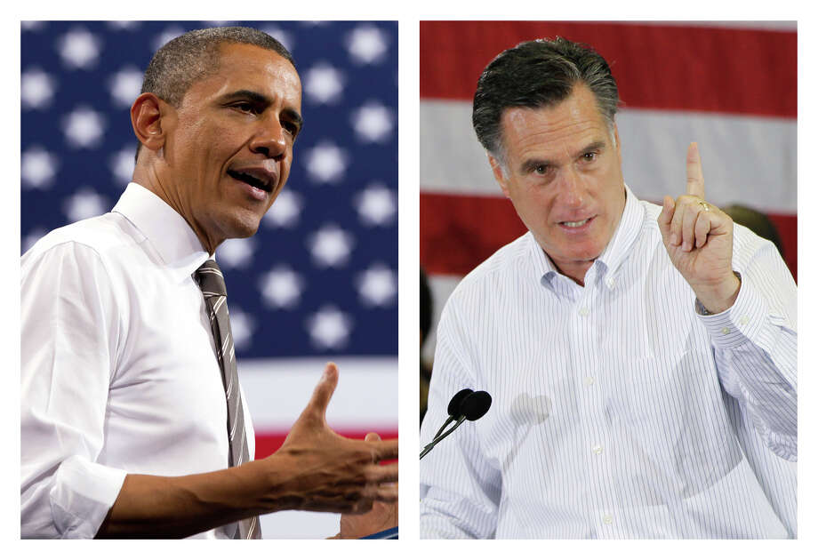 ADVANCE FOR USE SUNDAY, MAY 6, 2012 AND THEREAFTER - FILE - This combination of 2012 file photos shows U.S. President Barack Obama, left, and Republican presidential candidate Mitt Romney in Boulder, Colo. and Cape Canaveral, Fla. How unthinkable it was, not so long ago, that a presidential election would pit a candidate fathered by an African against another condemned as un-Christian. And yet, here it is: Barack Obama vs. Mitt Romney, an African-American and a white Mormon, representatives of two groups and that have endured oppression to carve out a place in the United States. How much progress has America made against bigotry? Photo: AP