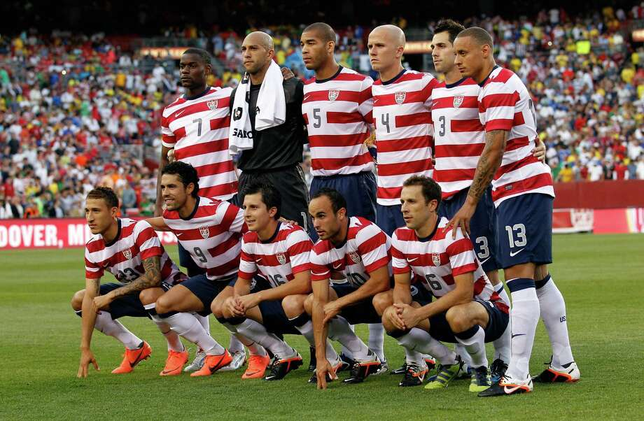 LANDOVER, MD - MAY 30: Members of team USA pose for a photo before the start of their International friendly game against Brazil at FedExField on May 30, 2012 in Landover, Maryland. Photo: Rob Carr, Getty Images / 2012 Getty Images