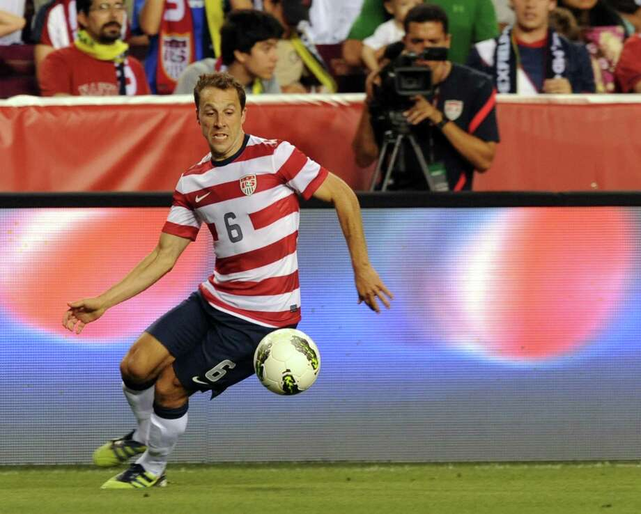 Steve Cherundolo of the US moves the ball against Brazil during an international friendly at FedEx Field in Landover, Maryland, on May 30, 2012.   AFP PHOTO/Nicholas KAMMNICHOLAS KAMM/AFP/GettyImages Photo: NICHOLAS KAMM, AFP/Getty Images / AFP