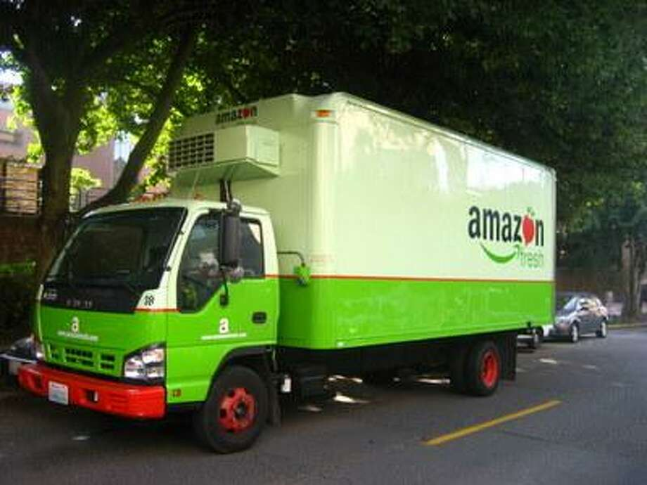 An Amazon Fresh truck delivers groceries. Photo: Seattle Post-Intelligencer