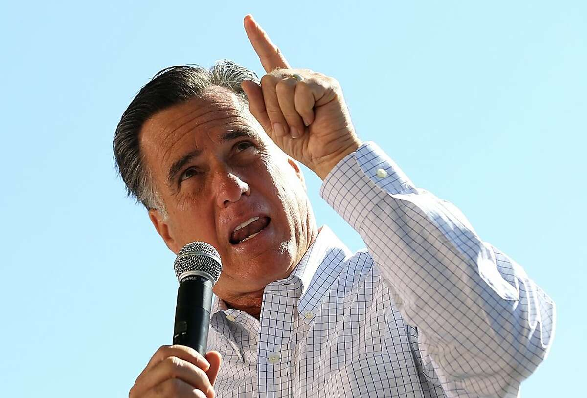 CRAIG, CO - MAY 29: Republican presidential candidate, former Massachusetts Gov. Mitt Romney speaks during a campaign rally at Alice Pleasant Park on May 29, 2012 in Craig, Colorado. Mitt Romney will campaign in Colorado and Las Vegas, Nevada. (Photo by Justin Sullivan/Getty Images)
