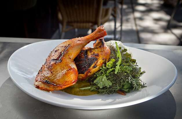The Smoked Half Chicken at Corners Tavern in Walnut Creek, Calif., is seen on Saturday, May 19th, 2012. Photo: John Storey