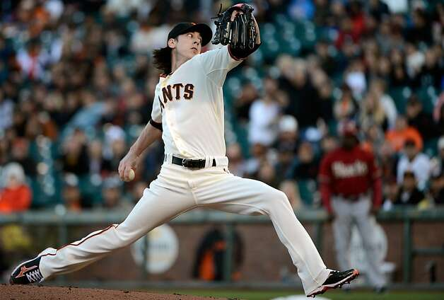 SAN FRANCISCO, CA - MAY 30:  Tim Lincecum #55 of the San Francisco Giants pitches against the Arizona Diamondbacks at AT&T Park on May 30, 2012 in San Francisco, California.  (Photo by Thearon W. Henderson/Getty Images) Photo: Thearon W. Henderson, Getty Images