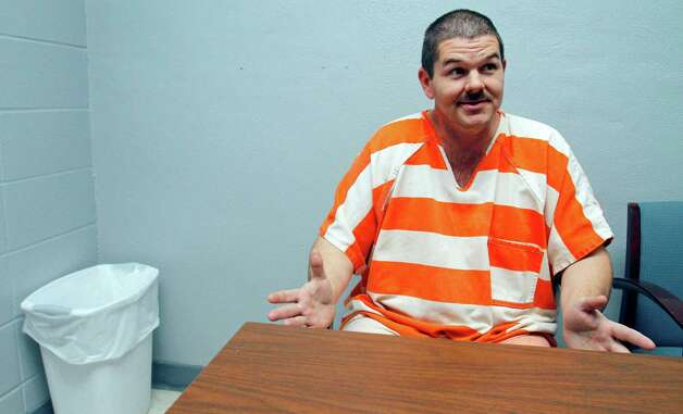 In this Jan. 18, 2011 photo, Itawamba County inmate Neil Brown describes at the jail in Fulton, Miss., hallucinations he experienced after ingesting a bath salt powder that is being sold at convenience stores and over the Internet. The product, which can be legally purchased, contains stimulants which authorities claim can cause hallucinations, paranoia and suicidal thoughts and are now among the newest substances law enforcement agents are having to deal with in the streets. Photo: Rogelio V. Solis, AP / AP