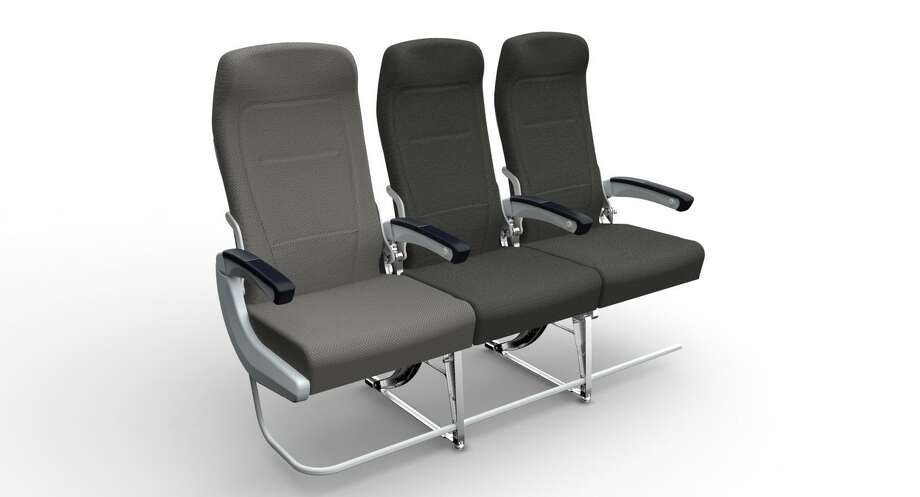 An image of a wider seat concept Airbus is exploring for its A320. Photo: Airbus
