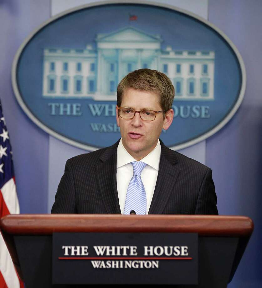 White House Press Secretary Jay Carney backs up the president's denials. Photo: AP