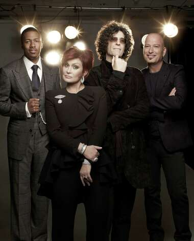 America's Got Talent stars Nick Cannon (from left), Sharon Osbourne, Howard Stern and Howie Mandel. Photo: NBC / 2012 NBCUniversal Media, LLC