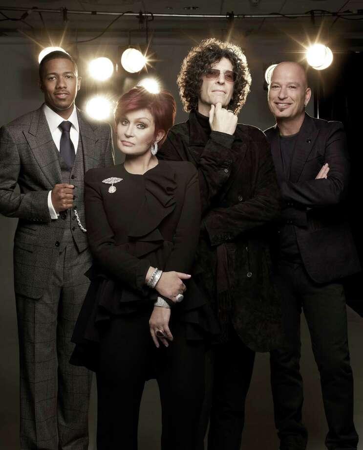 AMERICA'S GOT TALENT -- Season 7 -- Pictured: (l-r) Nick Cannon, Sharon Osbourne, Howard Stern, Howie Mandel -- Photo: NBC / 2012 NBCUniversal Media, LLC