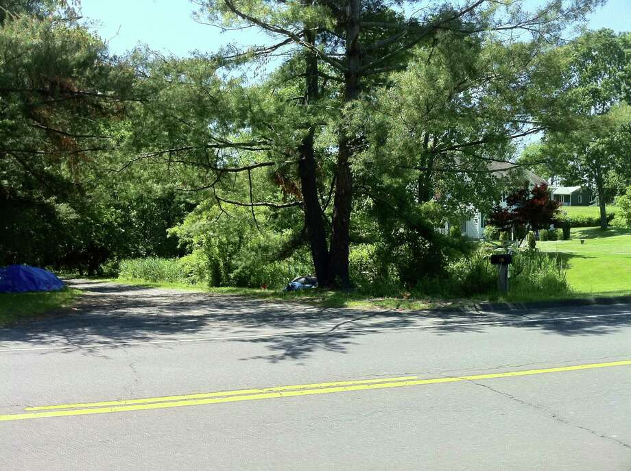 A Danbury man was killed in a lawnmower accident on a Mount Pleasant Road property on Wednesday, May 30, 2012. The photo was taken on Thursday, May 31, 2012. Photo: Carol Kaliff