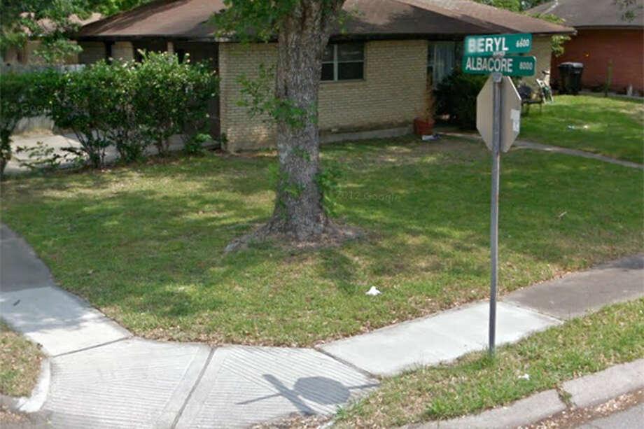 BERYL: Beryl Street in Houston.  (Googlemaps.com)