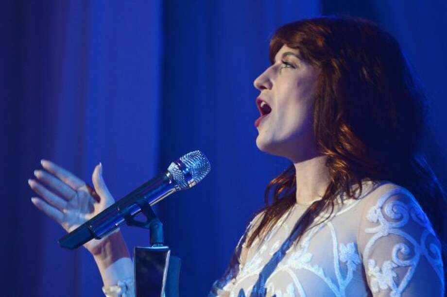 FLORENCE: Singer Florence Welch of Florence and the Machine at Lincoln Center on May 9, 2012 in New York City. (Andrew H. Walker / Getty Images for A&E Networks)