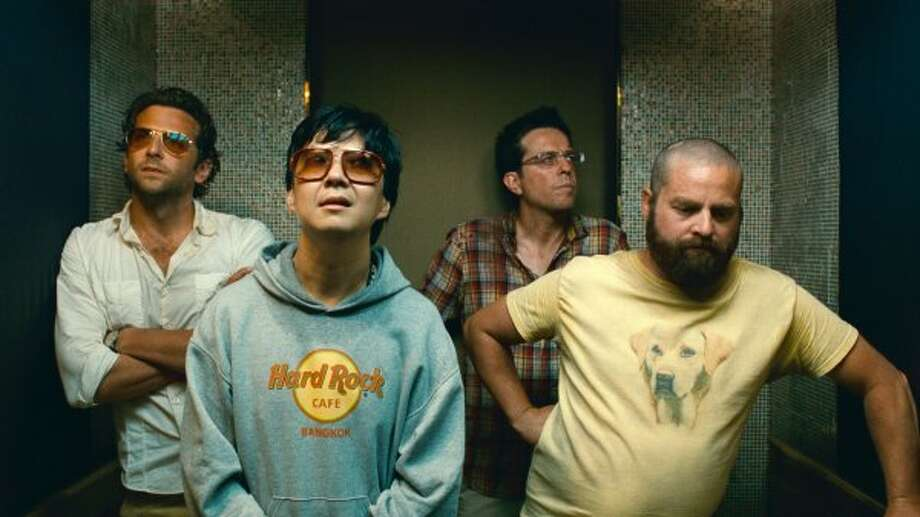 LESLIE: Actor Ken Jeong, second from left, played Leslie Chow in The Hangover and its sequel. 