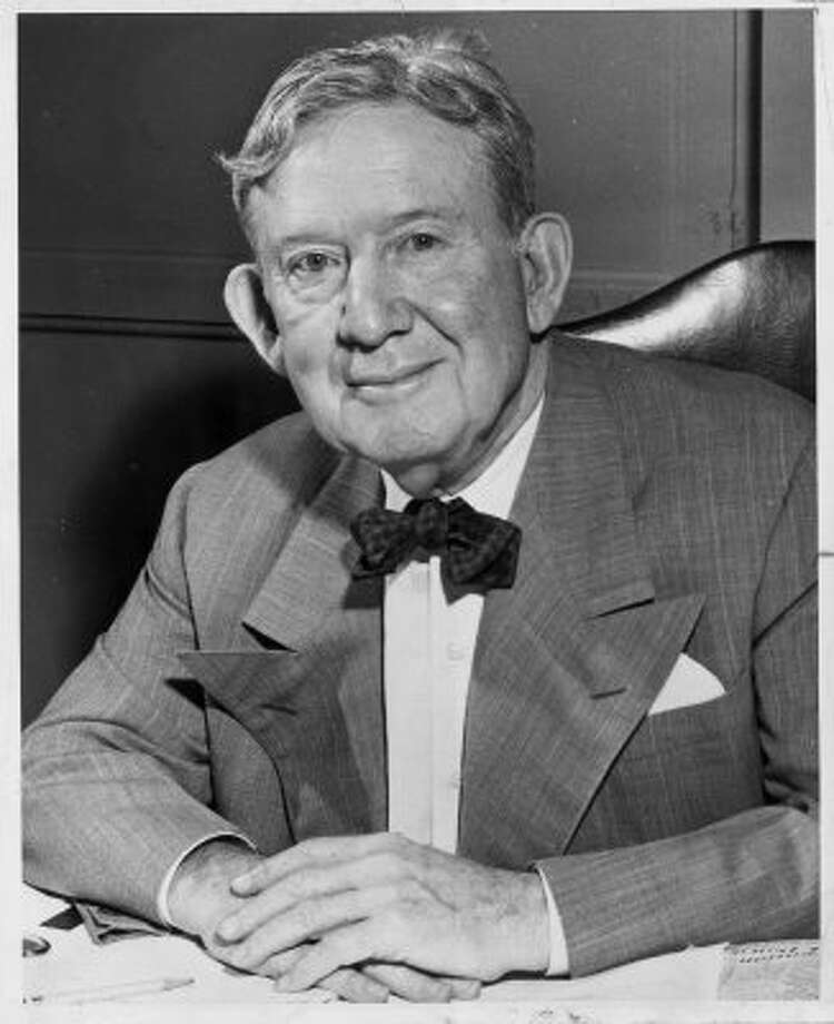 WILLIAM: Former Texas Gov. William Pettus Hobby, in 1957, then publisher of the Houston Post. Hobby Airport, which got an OK from the city of Houston for an international terminal May 30, 2012, is named for him.  (OWEN JOHNSON / Houston Chronicle)